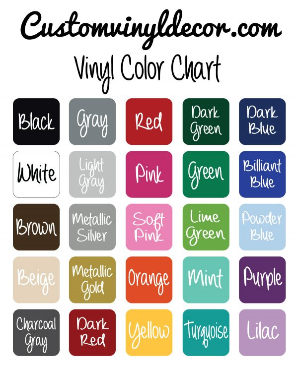 Oracal 631 Vinyl Color Chart - CustomVinylDecor