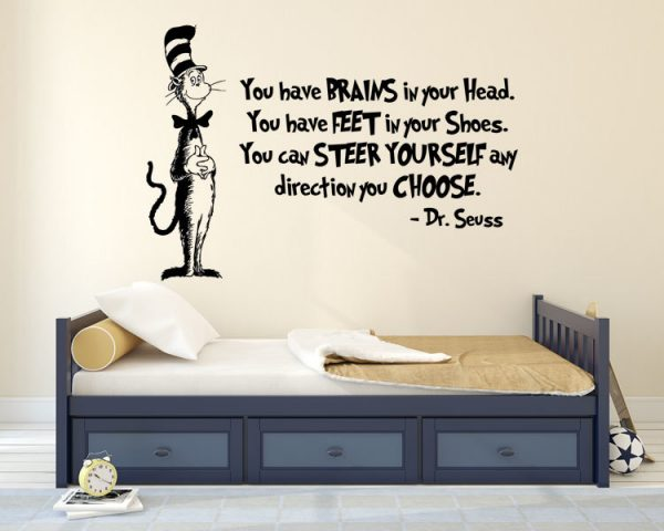 The Cat in the Hat Iconic Character from Dr. Seuss Wall Vinyl Decal