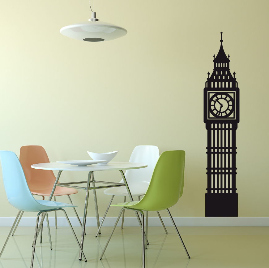 Big Ben Clock Wall Decal Vinyl Decor Design Palace Of