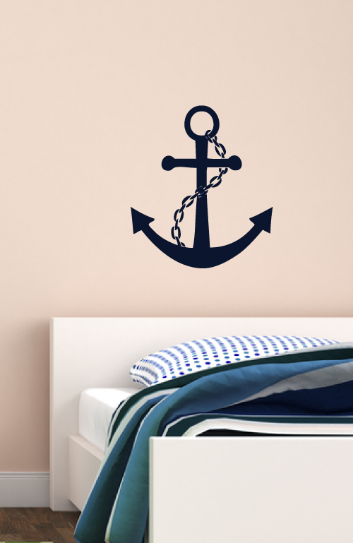 Anchor Vinyl Wall Decal Large Nautical Ocean Home Decoration