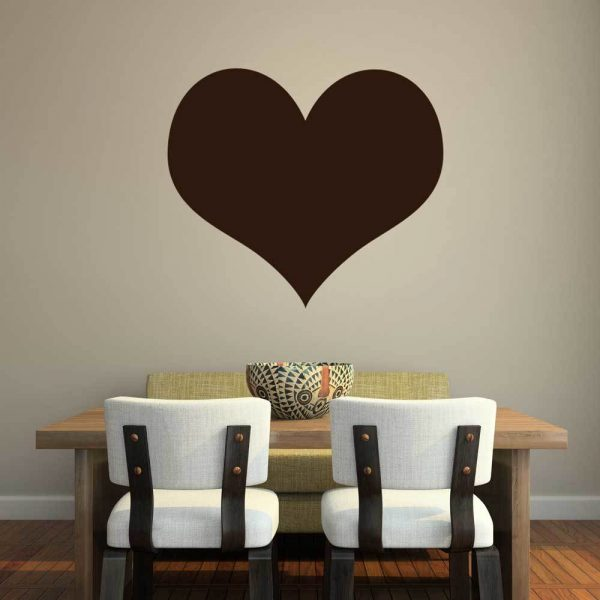 Heart Shape Wall Art Vinyl Decal for Love, Valentines Day, and Home Decor