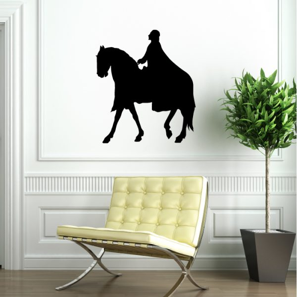 Medieval Vinyl Wall Decal Knight on a Horse Walking Playroom Decor