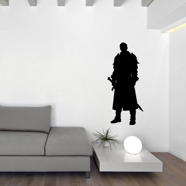 Medieval Vinyl Wall Decal Knight with Sword Home Decor