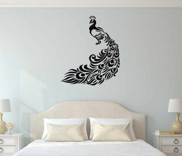 Peacock Wall Decal Vinyl Decor For Home And More