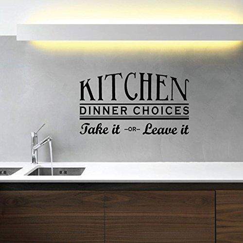 """Kitchen Wall Decals """"Kitchen Dinner Choices: Take It Or Leave It"""" Vinyl Home Wall Decor"""