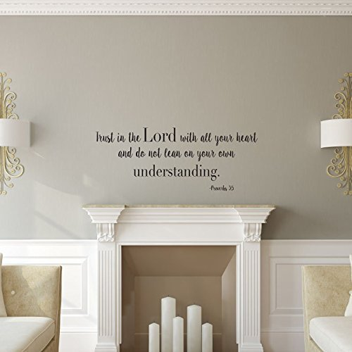 """Trust In The Lord"" Wall Decal Psalms 3:5 Christian Bible Verse Home Decor"