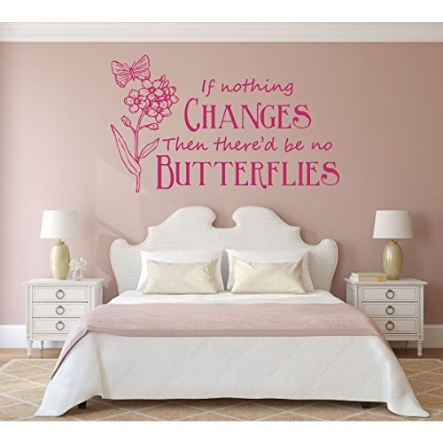 """""""If Nothing Changes Then There'd Be No Butterflies"""" Vinyl Wall Decoration"""