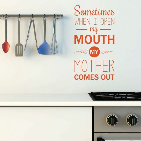 """""""Sometimes When I Open My Mouth""""  Mother Daughter Decal"""