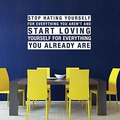 """""""Stop Hating Yourself"""", """"Start Loving Yourself"""" - Love Quote"""