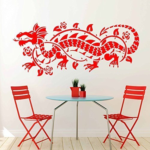Wall Sticker Chinese Sticker Dragon, Asian Symbol of Power and Excellence