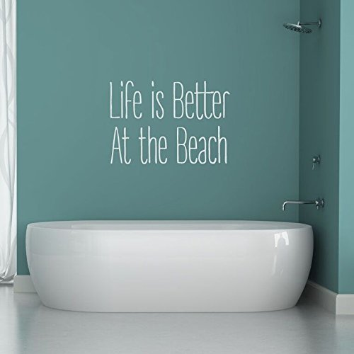 """""""Life Is Better At The Beach"""" Vinyl Wall Decal"""