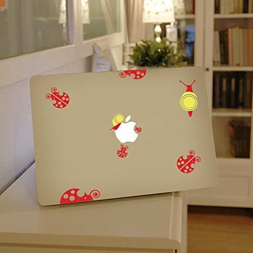Lady Bugs Apple Macbook Laptop Decal, Bugs Vinyl Design