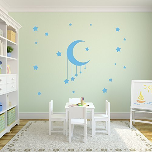 Moon and Stars Decal