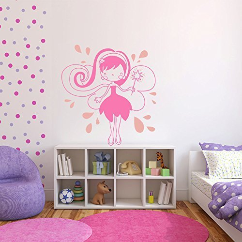 Cute Fairy Wall Decal for Girls Room
