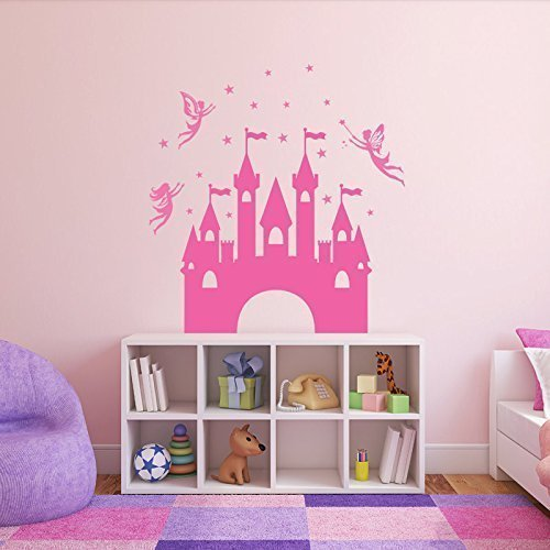 Princess Castle Wall Decal with Magical Fairies