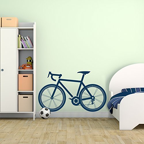 Children's Sport Bicycle Vinyl Wall Decal for Home Decor - Removable Peel & Stick Stickers