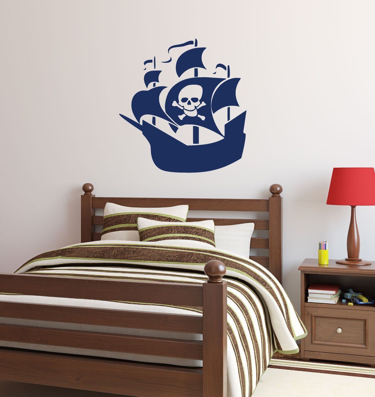 Pirates Kids Wall Decal: Pirate Ship Wall Decal Vinyl Sticker For Kids