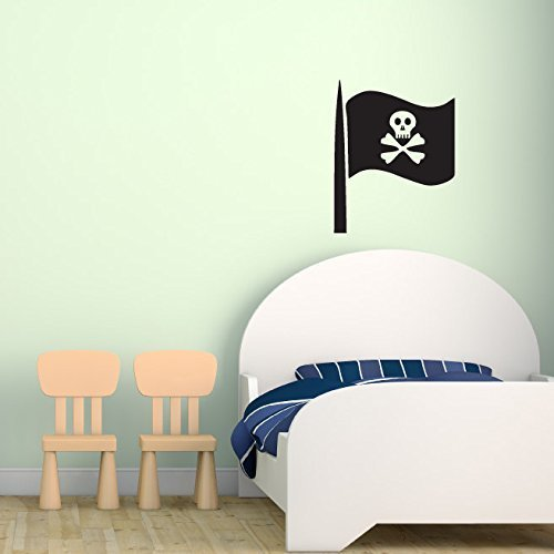 Pirate Decal- Skull and Crossbones Flag