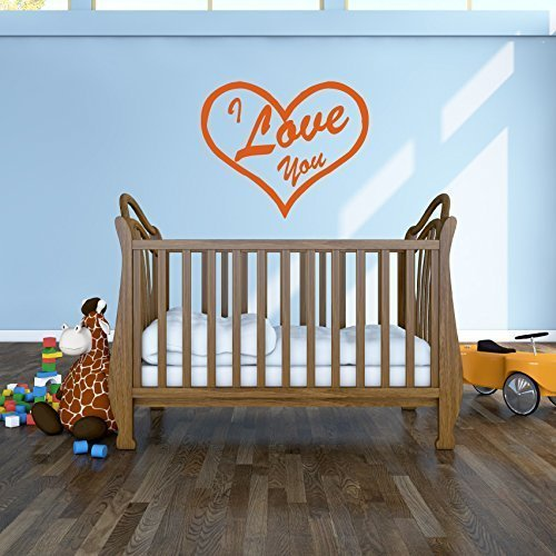 I Love You Wall Decal and Heart Shape Vinyl