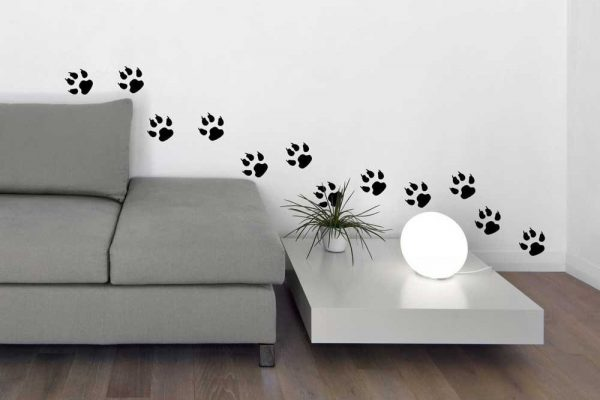 Dog Tracks Vinyl Wall Decal Home Decor Footprint Stickers