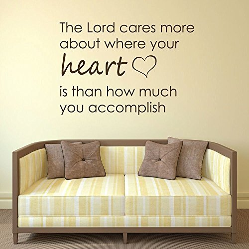 """Heart Wall Decals """"The Lord Cares More About Where Your Heart Is"""""""
