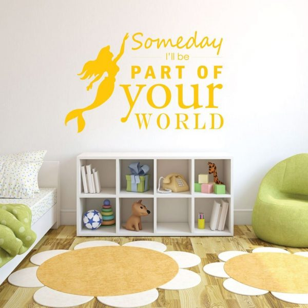 "LIttle Mermaid Wall Decals ""Someday I'll Be Part Of Your World"