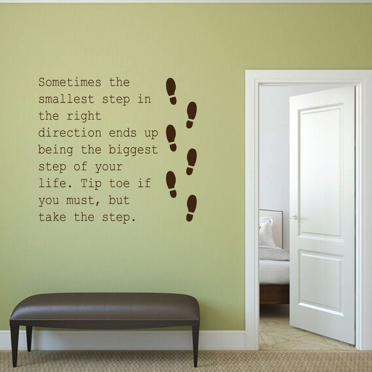 Wall Decals Single Step With Footstep Images For Home And School Decor