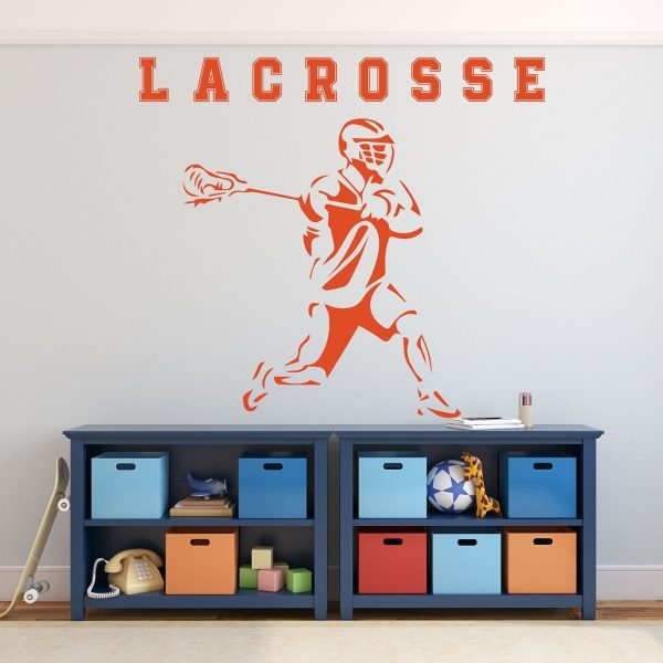 Lacrosse Wall Art - Boys Room Decor - Sports Wall Decals -