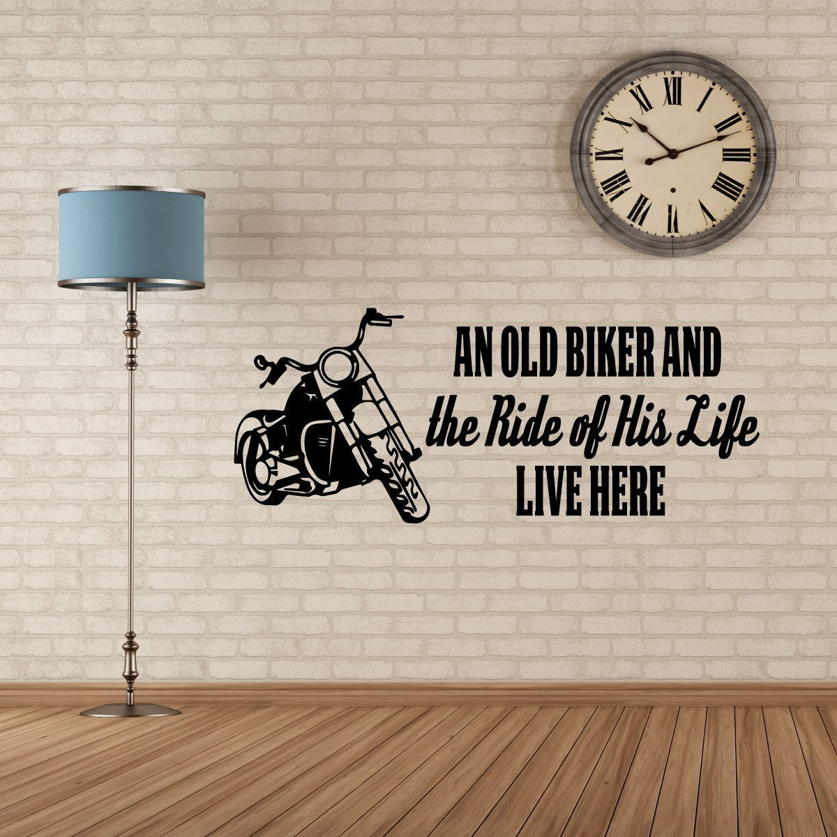 "Old Biker Vinyl Decals ""The Ride Of His Life"" With"