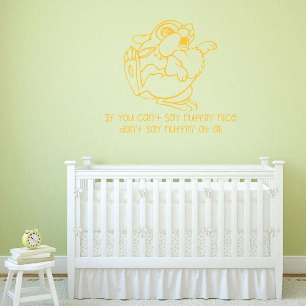 """Playroom Wall Decals Thumper From Bambi Quote """"If You Can't Say Something Nice"""""""