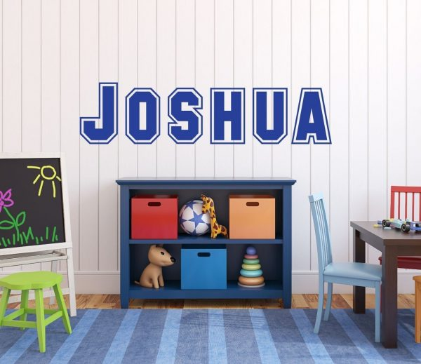 Custom Name Wall Decals - Personalized Kids Vinyl Sticker for Bedroom,
