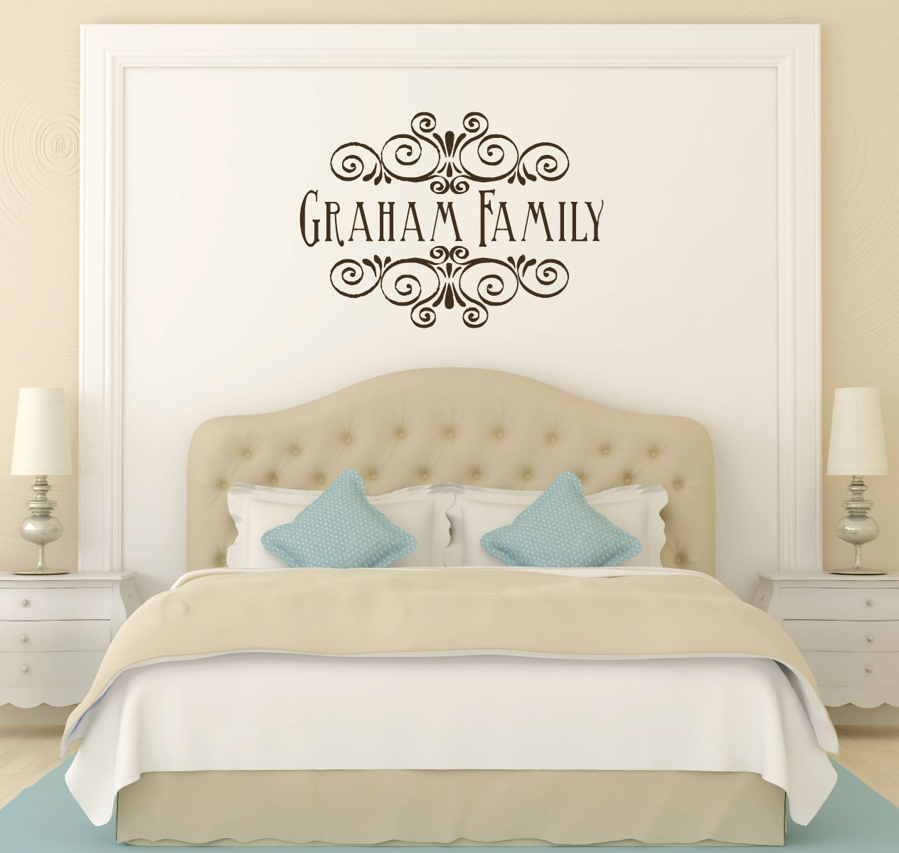 Family Name Decal - Personalized Vinyl Wall Sticker Design for Living Room, Bedroom, Kitchen -