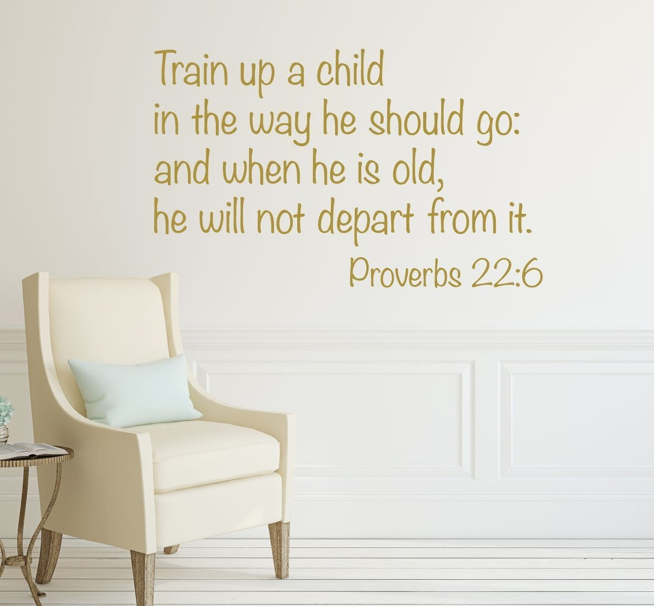 Bible Verse Wall Decals   Proverbs 22:6   Train Up A Child   Christian