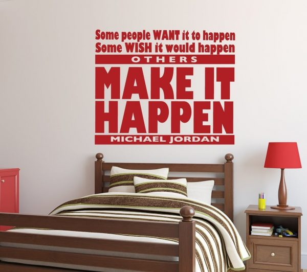 Michael Jordan Wall Decals - Sports Themed Vinyl Decor for Boys and Girls Bedrooms,