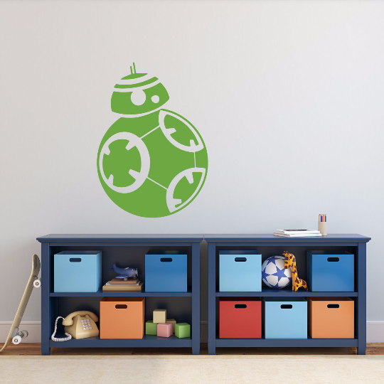 Star Wars Wall Decals BB-8 From Force Awakens Playroom Decor