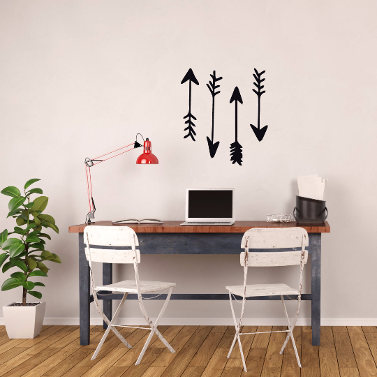 Arrow Home Decor Wall Decals - Western or Cowboy and Indian Themed Vinyl Stickers Home Decor -