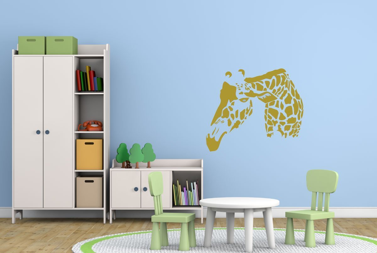 giraffe wall decal home decor safari vinyl sticker zoo animal decoration. Black Bedroom Furniture Sets. Home Design Ideas