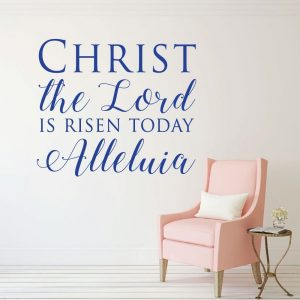 Christian Easter Decorations, Vinyl Wall Decals, Religious Wall Decor