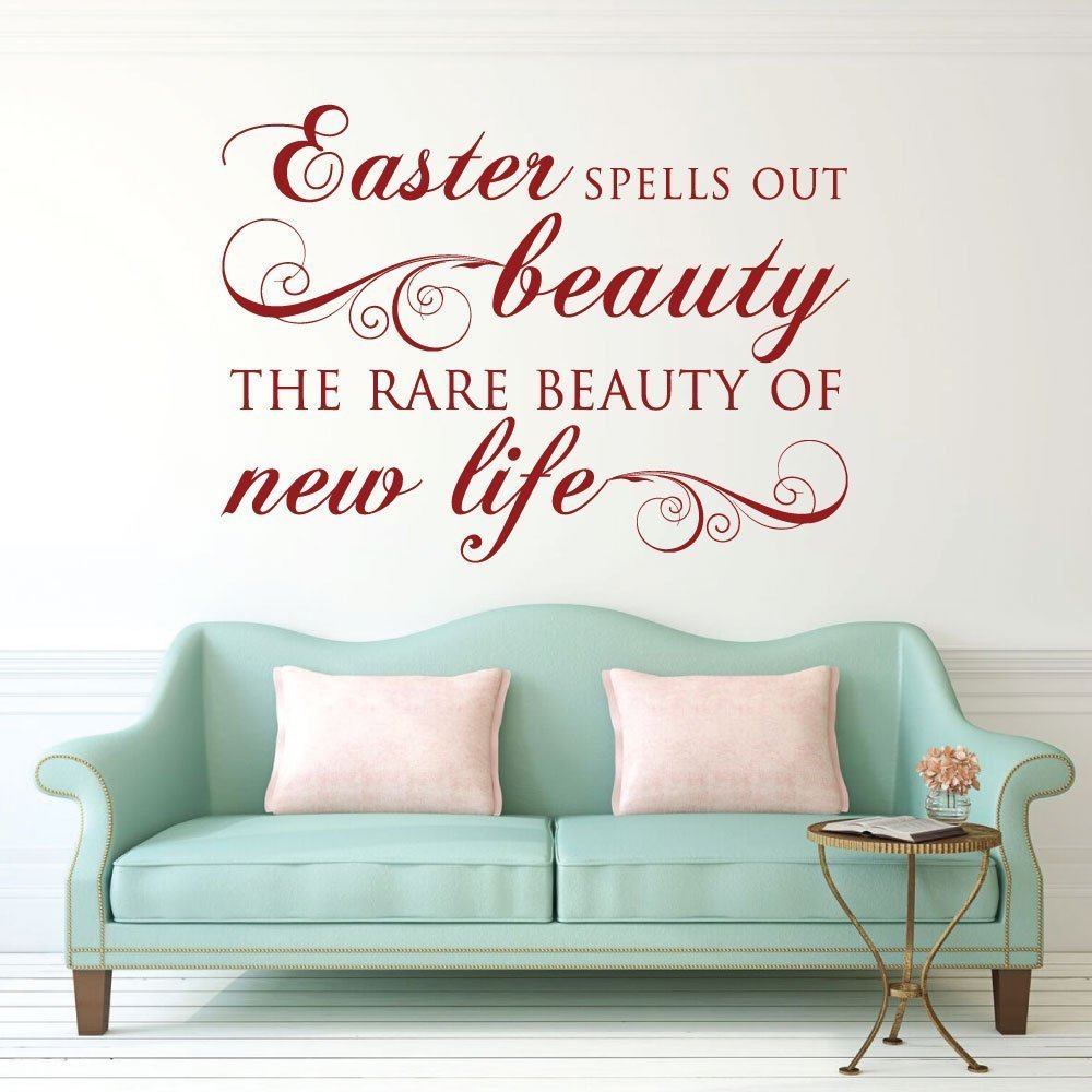 Easter decorations vinyl wall decals religious home for Religious decorations for home