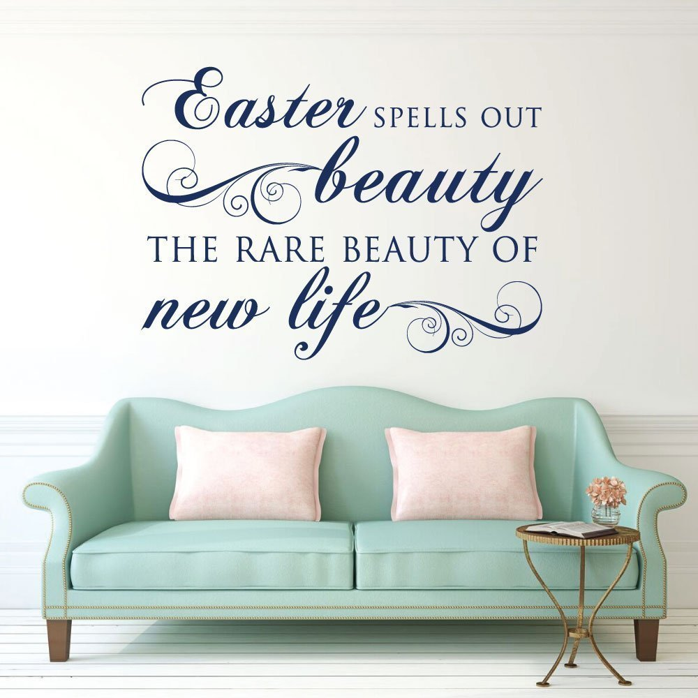 Easter Decorations, Vinyl Wall Decals, Religious Home