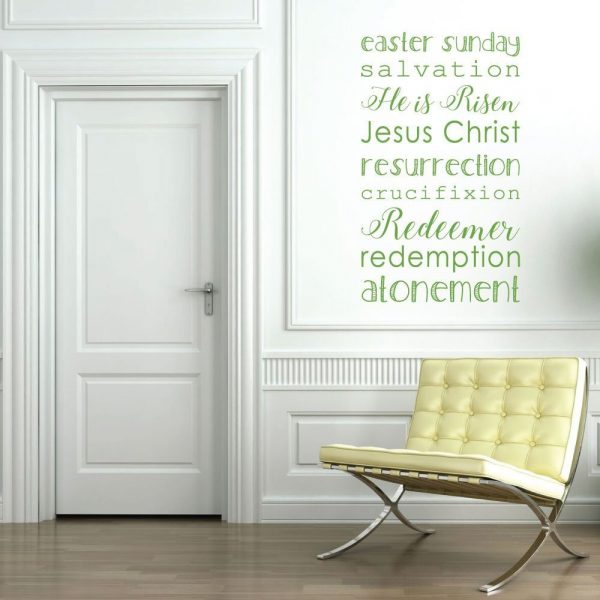 Religious Easter Decorations, Vinyl Wall Decals, Religious Art