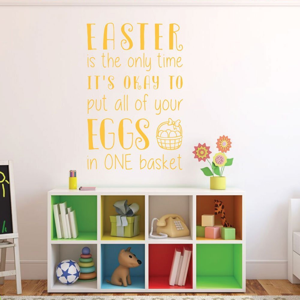 Easter Home Decor, Funny Easter Vinyl Wall Decal, Easter Humor