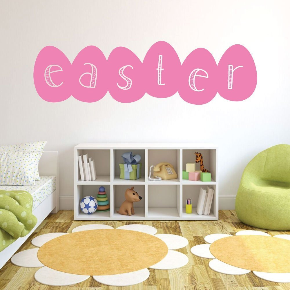 Easter Eggs Decoration, Easter Fun Vinyl Wall Art Decal Sticker