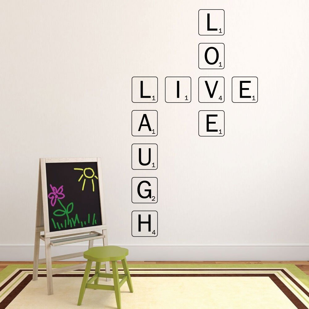 Live laugh love wall decal scrabble wall art for Live laugh love wall art