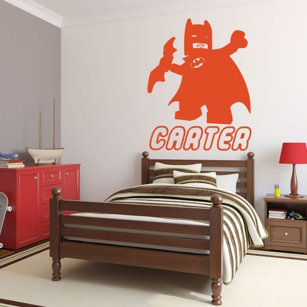 Personalized Wall Decals - Lego Batman with Name Below