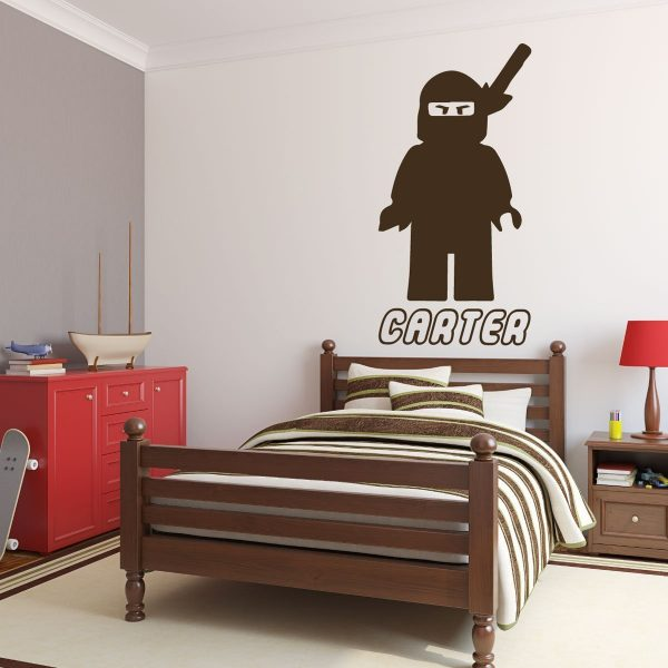 Personalized Wall Decals - Lego Ninjago Samurai with Name Below