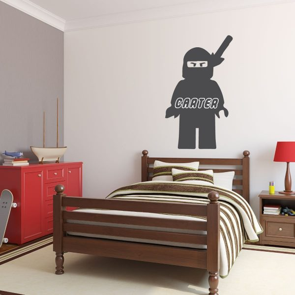 Personalized Wall Decal - Lego Ninjago with Name In Character