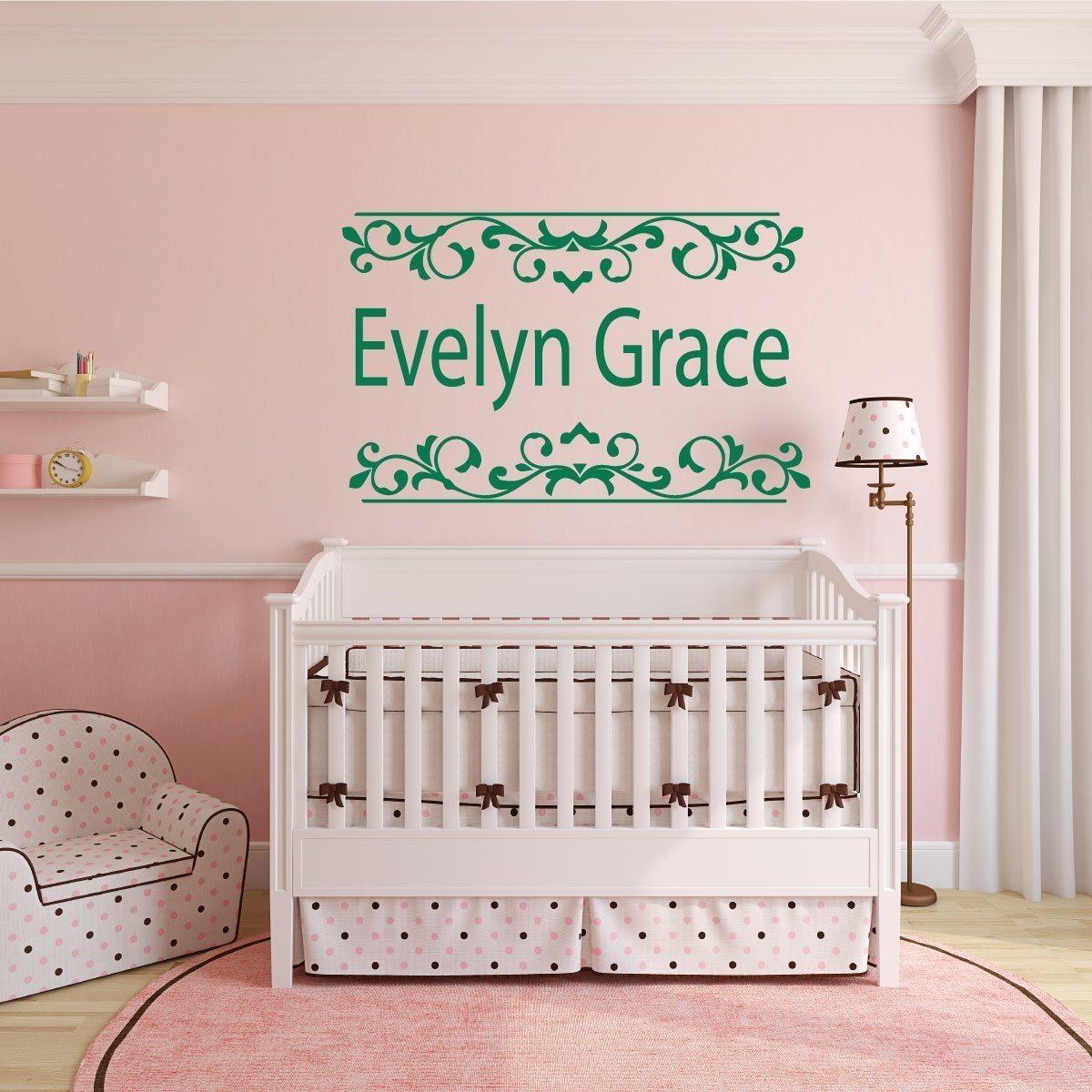 Personalized Name Art - Girls Room Wall Decals - Vinyl Wall ...
