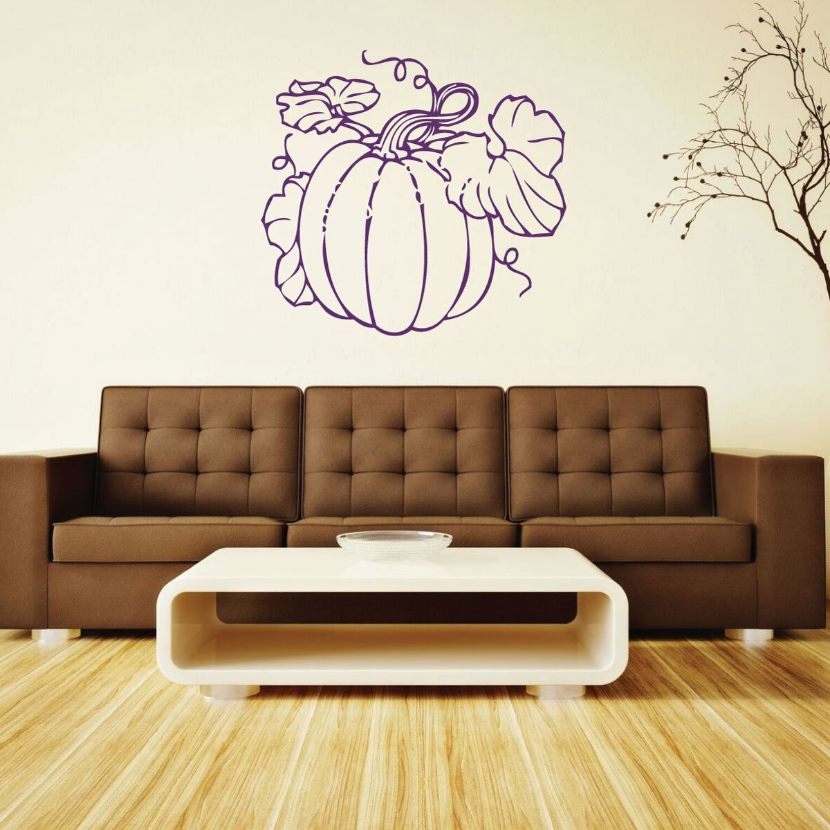 Autumn Decorations - Vintage Pumpkin With Vines - Thanksgiving Decor for the Home