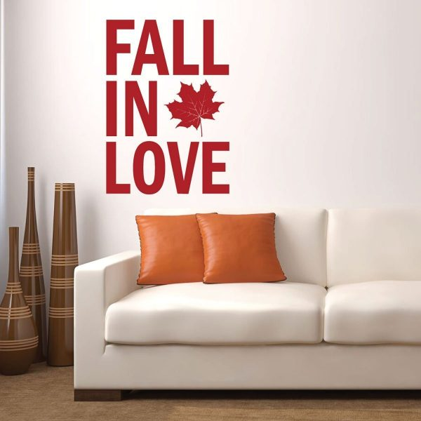 Fall Decoration - Fall in Love - Vinyl Wall Decals